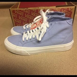 Vans Court Mid DX Serenity Canvas Suede Womens 7.5