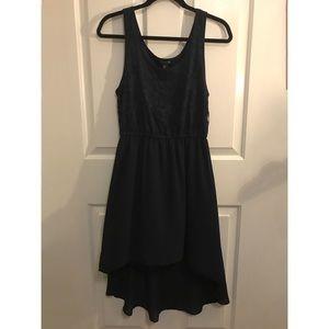 Navy Blue High-Low Dress