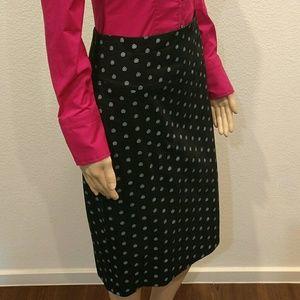 Express Black High Waist Floral Pencil Skirt
