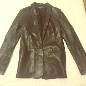 Vince leather blazer