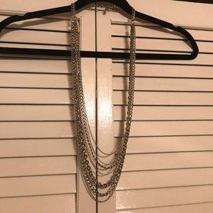Banana Republic multi-layer long chain necklace