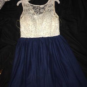 Cute dress for tween (navy)