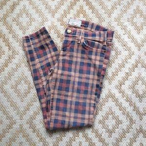 Current / Elliott Plaid Skinny Jeans