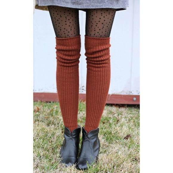 5acdcbbd8fc ⚡ 🍂Burnt Orange Knee High Socks. M 59bf18dd78b31cb4020a7900
