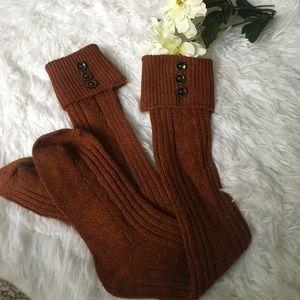 fd1b3ba3df6 Urban Outfitters Accessories - ⚡ 🍂Burnt Orange Knee High Socks