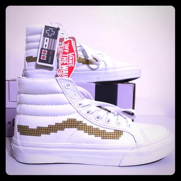 457c2eb0d82 NWT Vans RARE Nintendo Console Gold SK8-Hi Slim