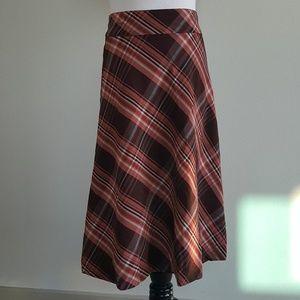 NWT H&M Brown Plaid Skirt