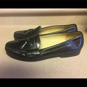Cole Haan Black Tassle Leather Loafer Men Sz 13D