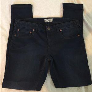 Free people dark wash jeans short