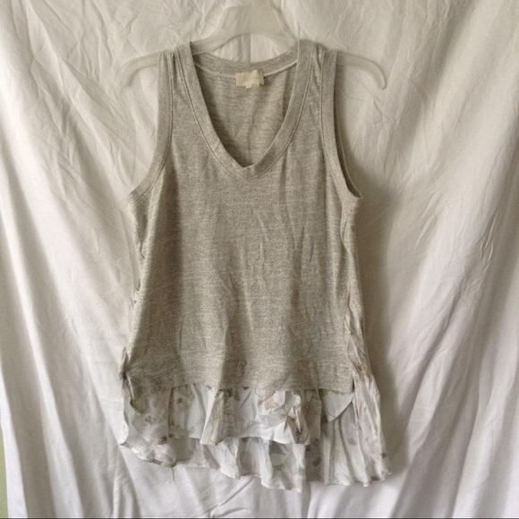 Anthropologie Tops - ANTHROPOLOGIE light grey sleeveless blouse