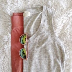ANTHROPOLOGIE light grey sleeveless blouse
