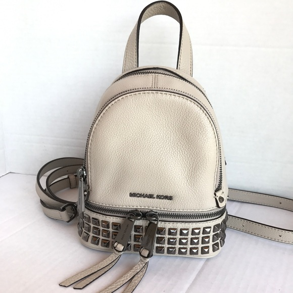 1e0ff6f943b8 Michael Kors Bags | Rhea Zip Mini Stud Messenger Backpack | Poshmark