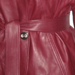 Escada Jackets & Coats - Escada Belted Leather Blazer