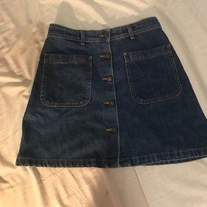Zara denim button skirt
