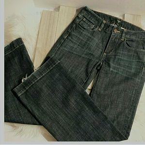 "J.Crew ""Favorite Fit"" Distressed Boot Cut Jeans"