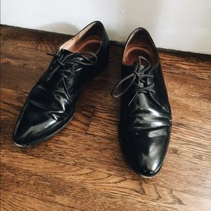 Madewell Black Patent Leather Oxford Flats
