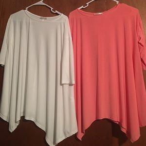 Tops - Set of 2 boutique tunics🦋