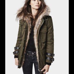 Kooples 2014 Chamonix Parka & Fox Fur trimmed Hood