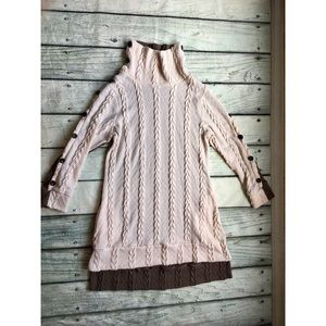 Reborn cable knit sweater dress