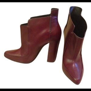 ALEXANDER WANG - BURGUNDY ANKLE BOOTS