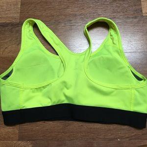 Nike Intimates & Sleepwear - Nike Pro dri-fit w padding, neon&black bra sz S
