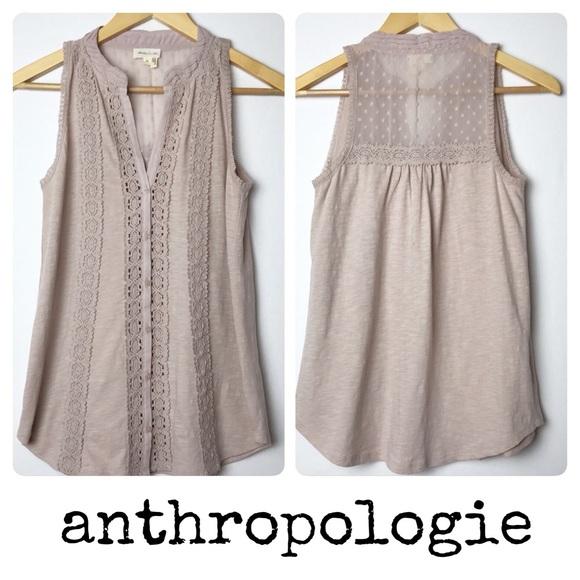 8364316a31b Anthropologie Tops - Anthropologie Meadow Rue Jenson Tank Beige Size XS