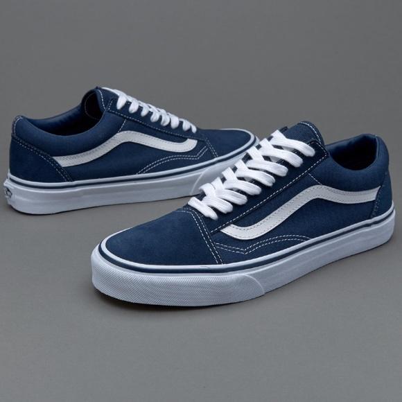 Blue old skool vans