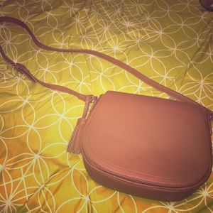 Chestnut Brown Faux Leather Shoulder Bag