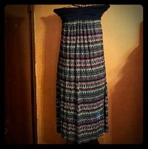 Halter top maxi dress