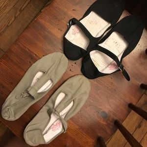 To pairs of cloth Mary Janes from Urban Outfitter
