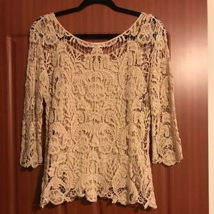Two lace shirts with attached camisoles