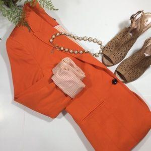 EUC Lined Orange Blazer M