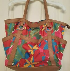 Tyler Rodan Pink, Multi-colored floral handbag