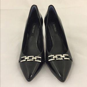 White House Black Market buckle heels size 8