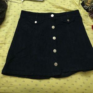 BDG Button Skirt