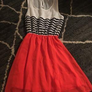 Fun flirty striped dress