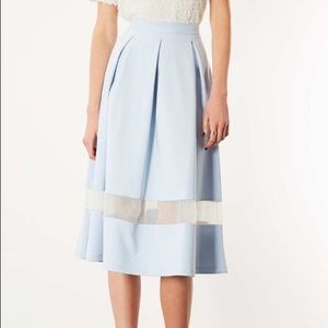 Topshop Organza Midi Skirt