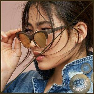 Anthropologie Etta Matte Cat Eye Sunglasses