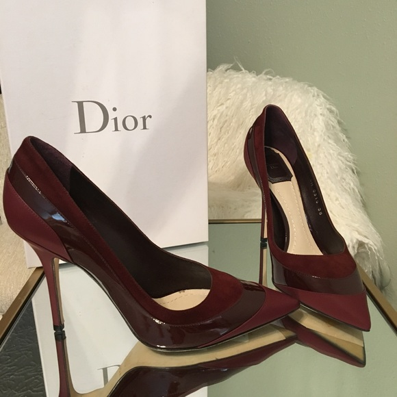 9aa42093f08 Christian Dior Suede   Patent leather Stiletto