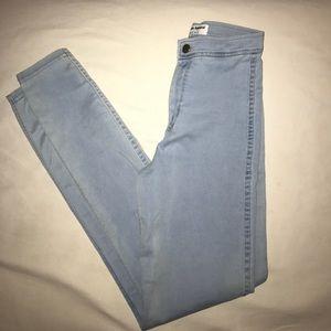 American Apparel light blue jeans