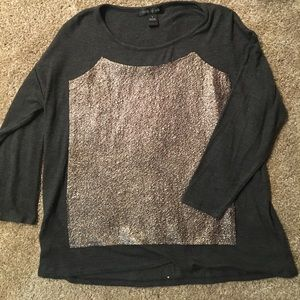 August silk sweater textured print