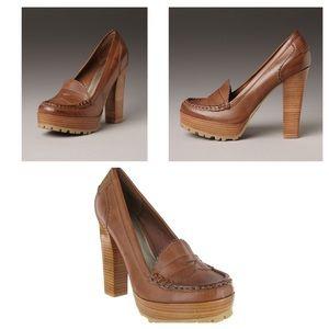MIA Kayte Tan Platform Loafer Pumps- Size 8.5