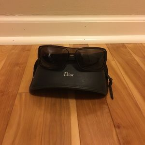 Dior brown sunglasses with soft case