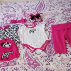 Baby girl 0-3 month outfit
