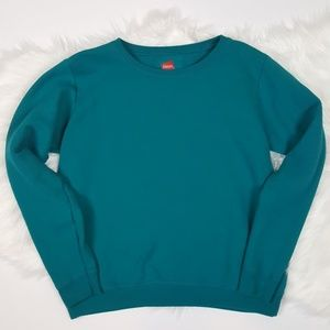 🌺 Teal Crewneck Sweater by Hanes Size Small
