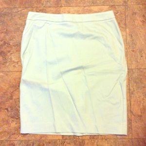 CAbi Jordan Almond Mint Pencil Skirt Size 6