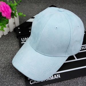 Accessories - NEW• light blue faux suede baseball cap