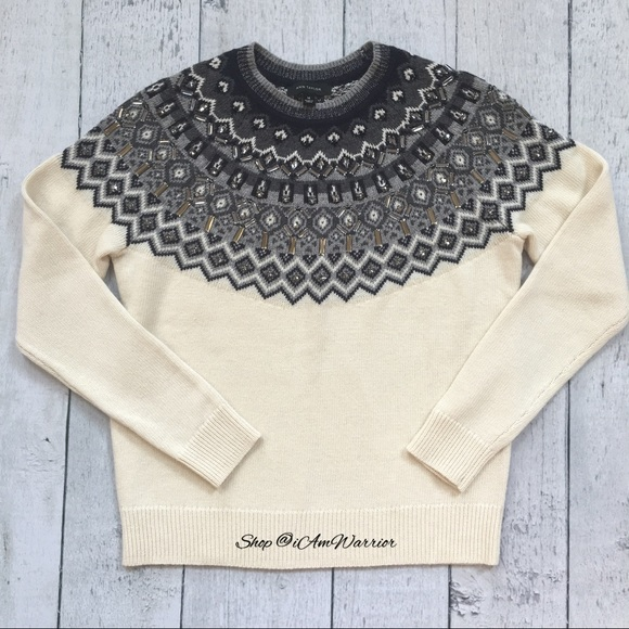 41% off Ann Taylor Sweaters - Ann Taylor embellished fair isle ...