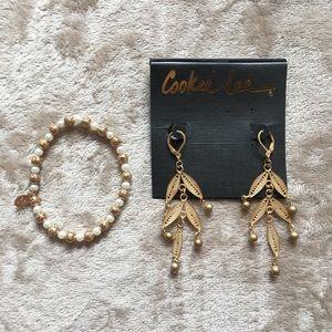NWOT! Gorgeous bracelet and earring set.