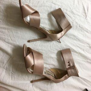 Badgley Mischka Pink Ankle Strap Heels
